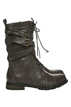 I have developed a slight obsession for army style cute boots :) - lb