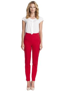Menot High Waist Pants Red