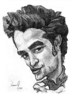 Cartoon Drawings of Famous People   Cartoon: Robert Pattinson (medium) by Vera Gafton tagged drawing ...