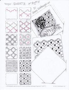 Tangle Pattern Qwertz by Zenjoy