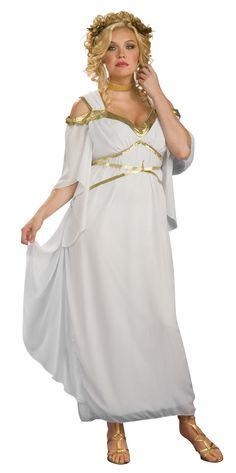Roomalainen+Jumalatar++. Kauniin mekon lisäksi naamiaisasuun kuuluu pääkoriste, joka on saanut vaikutteensa laakerinlehti seppeleestä.