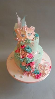 Masquerade Ball Charity Cake