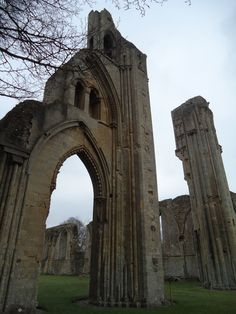 The ruins of Glastonbury Abbey, England. I was far from the only visitor that day, but there was a reverent hush over the crowd. Even though it's but a shadow of its former self, the place stil feels sacred and the shadow is still glorious.