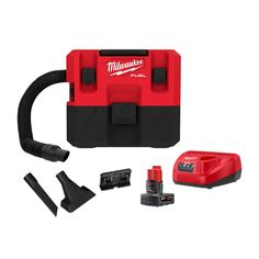 Milwaukee 0960-21 M12 FUEL 1.6 Gallon Wet/Dry Vacuum Kit Cordless Power Tools, Cordless Hammer Drill, Portable Vacuum, Milwaukee Tools, Hanging Plates, Electronic Recycling, Dry Vacuums, Recycling Programs, W 6