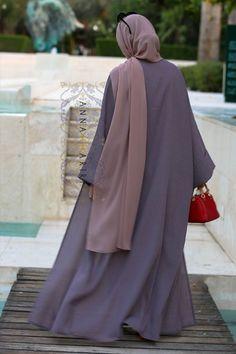 Abaya set with slip dress