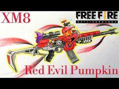 How to draw XM8 Red Evil Pumpkin || Garena Free Fire || Vẽ XM8 Hỏa Táng - YouTube