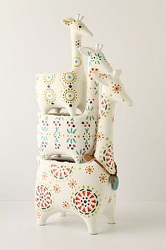Giraffe stack garden pots