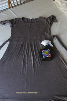 1:2 dawn and hydrogen peroxide. This is the perfect bottle for storing this Super Stubborn Stain Remover. It REALLY WORKS! It saved this dress from the trash heap. MadeFrom...