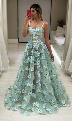 On Sale Comfortable Green Prom Dress Green Sweetheart Neck Lace Long Prom Dress, Green Evening Dress Straps Prom Dresses, Unique Prom Dresses, Prom Dresses Blue, Pretty Dresses, Beautiful Dresses, Maxi Dresses, Dress Prom, Prom Gowns, Elegant Dresses