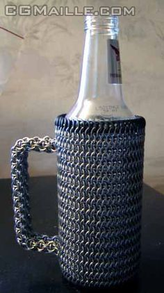 Chainmaille mug. That is pretty awesome!