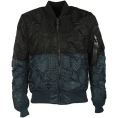 Marcelo Burlon County Of Milan Ollague Alpha Ma-1 Bomber Jacket ($475) ❤ liked on Polyvore featuring men's fashion, men's clothing, men's outerwear, men's jackets and black