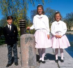 Royal Sisters (Siblings)... Young Prince Carl Philip, Crown Princess Victoria, and Princess Madeleine of Sweden