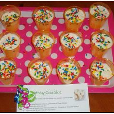 Birthday Cake Shots!!!