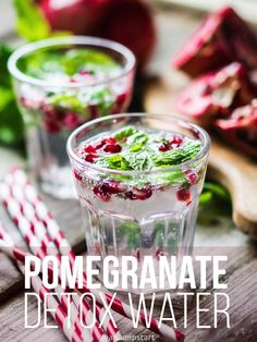ppomegranate mint water - chill and enjoy!