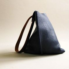 "I WANT THIS!!!!!!  The 16"" Bag is the one I want.  Wedge bag - Indigo blue bull hide"