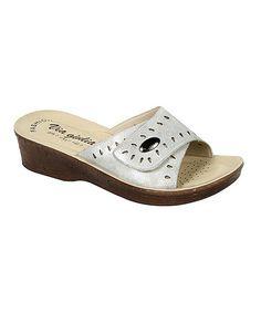 Look at this #zulilyfind! Silver Isidora Sandal #zulilyfinds