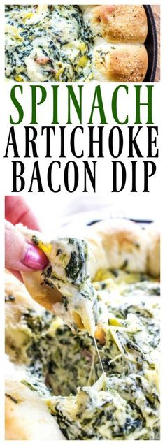 SPINACH ARTICHOKE BACON DIP RECIPE- creamy, delicious and easy to prepare this is a party must have. Adding bacon to your classic spinach artichoke dip is a fantastic twist that all your friends & family love. I love warm dips, especially during the fall.