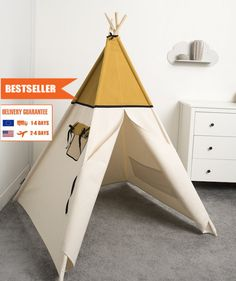 children teepee tent, kids play tent, tipi, teepee tent, indian wigwam Wafer by cozydots on Etsy Kids Tents, Teepee Kids, Teepee Tent, Camping Hacks, Picnic, Indian, Play, Trending Outfits, Children