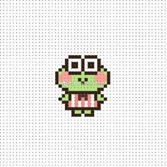 Kawaii Cross Stitch, Tiny Cross Stitch, Cross Stitch For Kids, Beaded Cross Stitch, Perler Bead Templates, Diy Perler Beads, Perler Bead Art, Needlepoint Patterns, Embroidery Patterns
