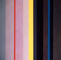 """nobrashfestivity: """"Lorser Feitelson, Dichotomic organization stripes, 1959 """""""