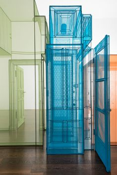 Korean artist Do Ho Suh references the different places he has lived and worked with this colourful installation at London's Victoria Miro Gallery
