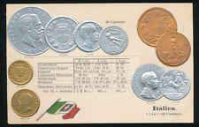 Italien  Ilalia Italy  Ansichtskarte  Prägekarte  Münzen   Silber + Gold  Lire