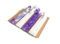 Elastic Hair Ties Purple and Blue Tie Dye Yoga by MadebyMegToo, $5.00