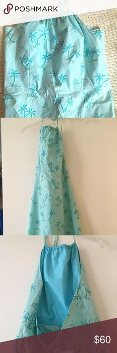 Lilly Pulizer Sundress Lilly Pulitzer halter sun dress. Backless. Ties around neck.  Great resort wear  Lilly Pulitzer Dresses Backless