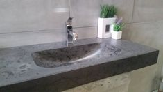 Custom concrete sink