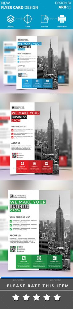 #Corporate #New #Flyer #Template - #Business #Flyers #Print #Design. Download here: https://graphicriver.net/item/new-flyer/19760969?ref=yinkira