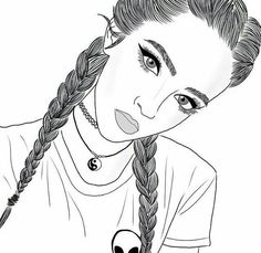 Braids Drawing Sketches French 66 Super Ideas - MY World Tumblr Girl Drawing, Tumblr Sketches, Girl Drawing Sketches, Tumblr Art, Girl Sketch, Sketches Of Girls, Cute Drawings Of Girls, Cute Drawings Tumblr, Drawing Girls