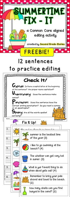 FREEBIE - a fun and easy way to practice editing skills of grammar, spelling and more