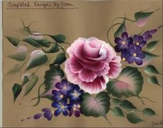 Online Course: One Stroke Painting of Beautiful Roses