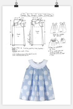 Kids Dress Patterns, Baby Clothes Patterns, Clothing Patterns, Dresses Kids Girl, Little Dresses, Kids Outfits, Sewing Clothes, Diy Clothes, Baby Sewing Projects