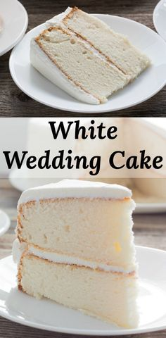 Wedding Cake - Delicious white cake with white buttercream icing. - White Wedding Cake - Delicious white cake with white buttercream icing.White Wedding Cake - Delicious white cake with white buttercream icing. Homemade White Cakes, Homemade Cake Recipes, Cake Mix Recipes, Homemade Wedding Cakes, White Cake Recipes, Wedding Cake Recipes, Best White Cake Recipe, Wedding Recipe, Coconut Wedding Cake Recipe