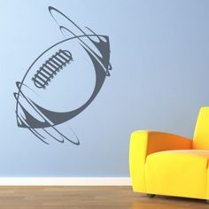 Spinning Rugby Ball in Wind Stickers Sports And Hobbies Wall Art Decal - American Football - Ball Sports - Sports & Hobbies