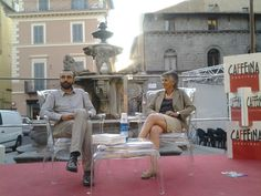 """01/07/2013: Presentazione di """"La Fontana del Papa"""" di Assuntina Antonacci per Caffeina Cultura 2013, presso Piazza delle Erbe."""