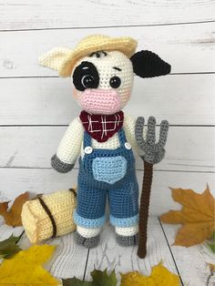 Ravelry: Farmer Clarence Cow pattern by Holly's Hobbies