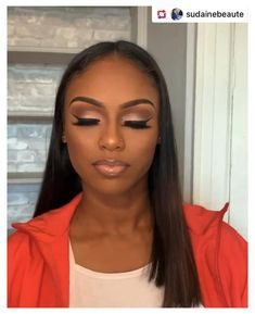 Natural Glam Makeup, Glam Makeup Look, Glamour Makeup, Pretty Makeup, Eye Makeup, Simple Makeup, Black Girl Makeup Natural, Beat Face Makeup, Hair Makeup