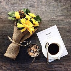Flowers & Coffee.