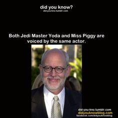 I honestly don't know what to think any more... Frank Oz is his name, btw.