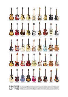 Beatles Guitars - all of them! - on Behance