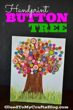 Handprint Button Tree {Kid Craft}