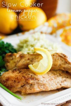 Slow Cooker Lemon Pepper Chicken | The Recipe Critic