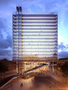 """Renzo Piano has cut 54 storeys from his stalled Paddington Pole skyscraper to create a new proposal for a """"floating"""" glass cube on the site by London's Paddington station"""