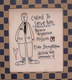 lds mission embroidery sampler