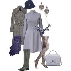 Bundled up in lavender by maria-kuroshchepova on Polyvore featuring Rules by Mary, Easy Street, Ralph Lauren and Linea