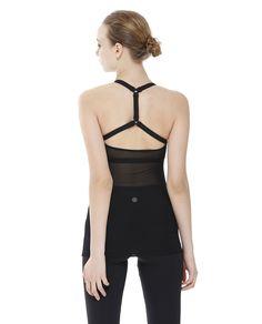 AUMNIE :: REFLECTION TANK BLACK/BLACK MESH  NEW ARRIVALS #yoga #pilates #yogatank #yogatop #yogawear #fittnesswear #sportswear #meshtop #openback
