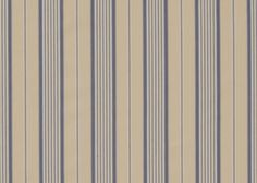 """ Airforce "" Stripe a handsome cream and blue woven striped cotton fabric #madeinuk #naturalcurtaincompany"