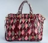 MiuMiu Beautiful Colour 500220 Handbag in Red plus Pink plus Grey